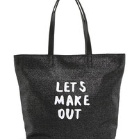Lets Make Out Tote - S0356 BK