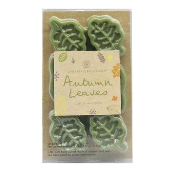 Chesapeake Bay Candle 6-piece Autumn Leaves Wax Melt Set (Green)