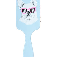 FOREVER 21 French Bulldog Paddle Brush Blue/White One