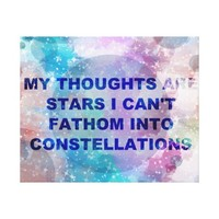 My thoughts are stars