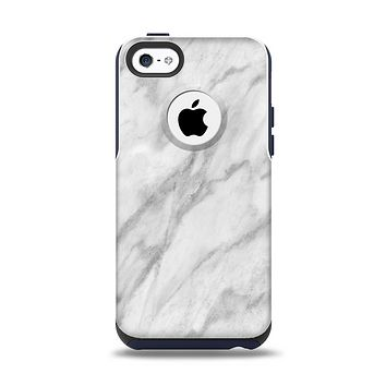 The White Marble Surface Apple iPhone 5c Otterbox Commuter Case Skin Set