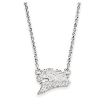 NCAA Sterling Silver Western Michigan U Small Pendant Necklace