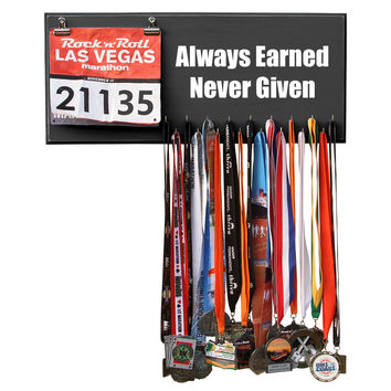Medal Hanger, Display, Holder - ALWAYS EARNED NEVER GIVEN