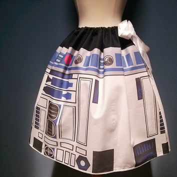 Star Wars R2D2 Skirt, R2D2, Adjustable Waist Fits All  Sizes, Unique and AWESOME