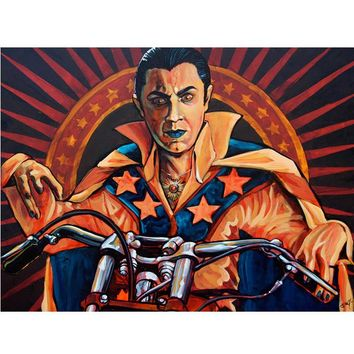Count Knievel by Mike Bell Fine Art Giclee Canvas Print