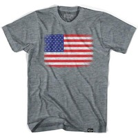 USA American Flag Vintage T-shirt