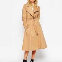 ASOS | ASOS Trench With Contrast Stitch Detail at ASOS