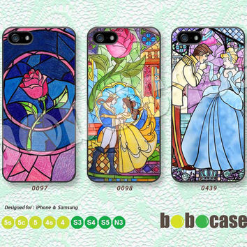 Beauty & the Beast, Disney, Rose iPhone 5 case, iPhone 5C Case, iPhone 5S case, iPhone 4 Case, Phone Case Phone Skin Samsung Galaxy S4 A0097