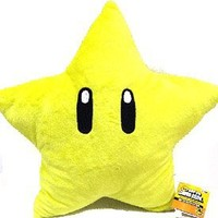 Mario Brothers: Starman 20-inch Plush Pillow