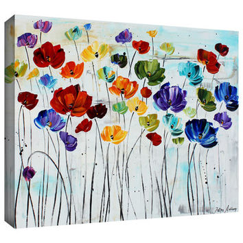 "Charlton Home ""Spring Color"" Wrapped Canvas Print & Reviews 