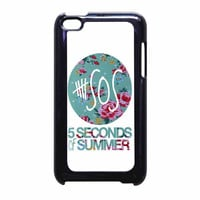 5 Seconds Of Summer Floral Pink iPod Touch 4th Generation Case