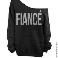 Fiance - Black with Silver Slouchy Oversized Sweatshirt