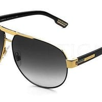 RARE Genuine Dolce & Gabbana Metal Aviator Gold Black Sunglasses DG 2099 1081/8G