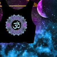 Mandala Om Aum Crop Top