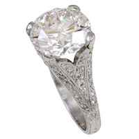 Ideal Round Brilliant Diamond Platinum Ring