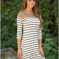 Color Block Striped Dress B0014206