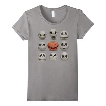 Disney Nightmare Before Christmas Jack Faces T Shirt