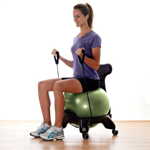 Balance ball chair ergonomic exercise from gaiam americas inc - Replacing office chair with exercise ball ...