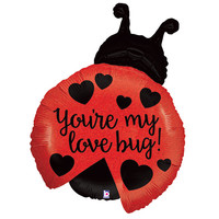 """You're My Love Bug"" Lady Bug Shaped Helium Balloon - 27"""