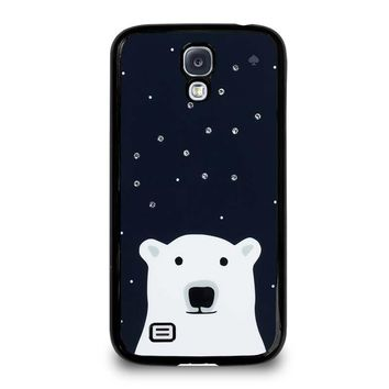 KATE SPADE SPARKLE POLLAR BEAR Samsung Galaxy S4 Case Cover