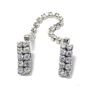 Vintage Sweater Guard -  Mad Men Rhinestone Jewellery - Fashion Clips