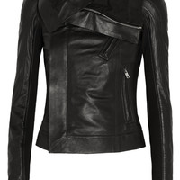 Rick Owens - Eliel leather biker jacket