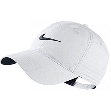 ESBIX5 Nike Classic Golf Sun Cap Hat Dri-Fit Unisex Adjustable OSFM, Velcro Closure -White/Black
