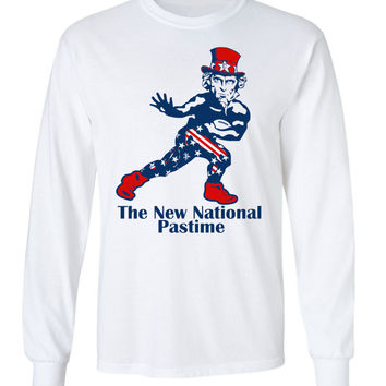 Uncle Sam 'The New National Pastime' Long Sleeve Tee