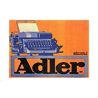 ADLER TYPEWRITERS Art Poster 24X36 VINTAGE Classic Style Collectors RARE