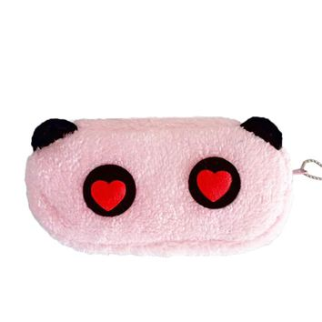 Zero 2017 Dropshipping Cute Cartoon Soft Plush Pencil Pen Case Novelty Pouch Bag Zipper B7731