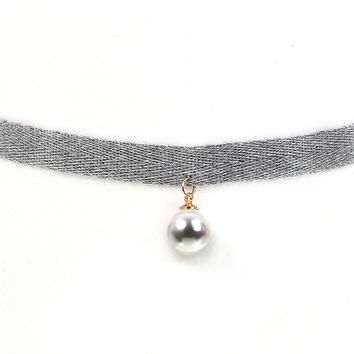 """Grey Appeal"" Choker Necklace"