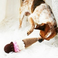Free People Hand Knit Ice Cream Dog Toy