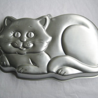 Vintage Cat Kitty Wilton Cake Pan 1987 Gelatin Mold Cooking Clean