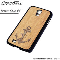 Anchor Wood Texture Case For Samsung Galaxy S4 Case