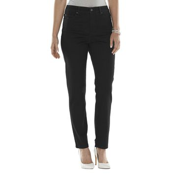 Gloria Vanderbilt Amanda Super Stretch Slim Straight-Leg Jeans
