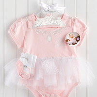 Baby Aspen Pink Big Dreamzzz Princess Skirted Bodysuit Set | Something special every day