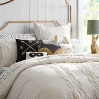 The Emily + Meritt Pretty Placket Duvet Cover + Sham