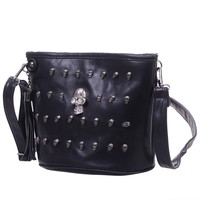 New Retro Skull Design Women Messenger Bags Handbags Shoulder Bags Satchel Clutch Girl Black Fashion Crossbody Bag bolsas borse