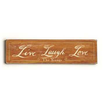 Personalized Live Laugh Love Welcome Wood Sign