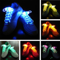 HOT SELLING 2pcs/lot Cool goods Colorful Flash Shoelace party Funny Toys gift Creative luminous lace for Cycling running Dances festivals = 1917212164