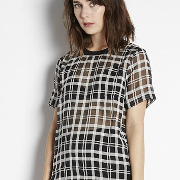 Monochrome Grid Top