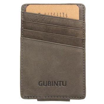 Men Genuine Leather Thin Wallet ID Money Credit Card Slim Holder Front Pocket