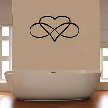 Infinity Heart Sign Symbol Vinyl Wall Words Decal Sticker Graphic