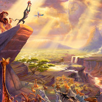 The Lion King by Thomas Kinkade For Sale : Jacky Gallery, Oil paintings reproductions and supplier