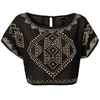 Embellished Crop Top, Club L