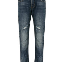 Blue Jeans with Distressed Detail
