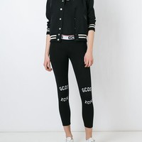 Gcds Logo Print Leggings - Divincenzo - Farfetch.com