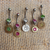 Bullet Navel Belly Button Rings for the Country Hunting Girl who Loves Guns!