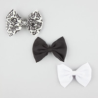 Full Tilt 3 Piece Chloe Bow Hair Clips White One Size For Women 26577915001