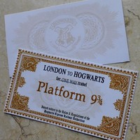 Hogwarts School Tickets Hand-Make